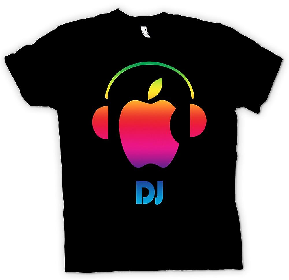 Womens T-shirt - Apple - DJ hörlurar
