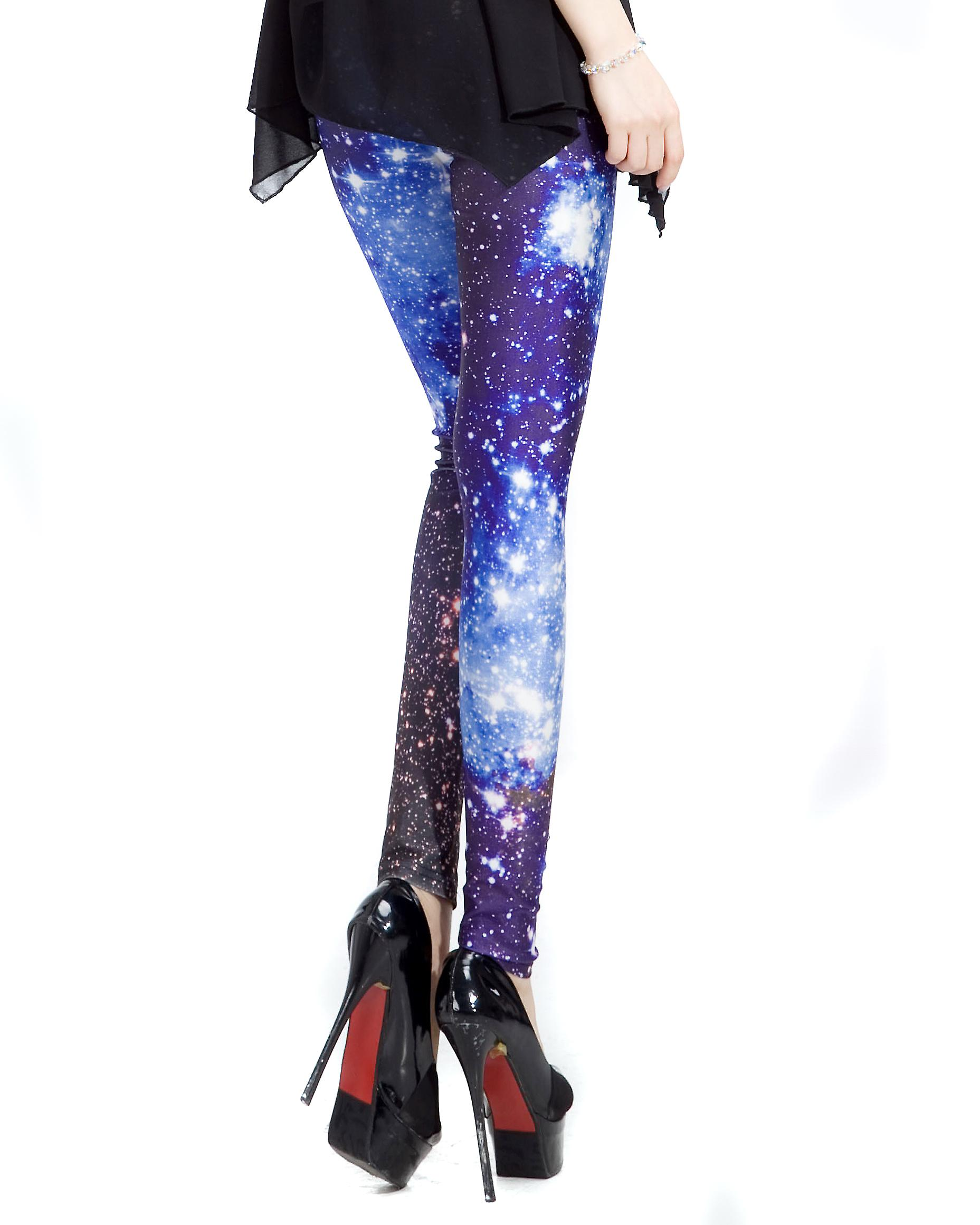 Waooh - Fashion - Leggings lang fantasy - blå galaksen