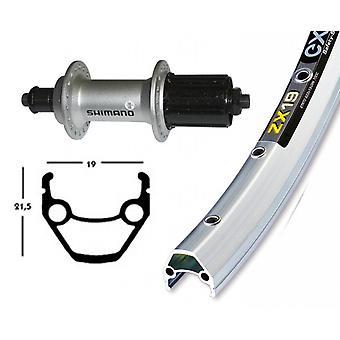 Bike parts 28″ rear Exal ZX 19 + Shimano alivio M430 8-fold (QR)