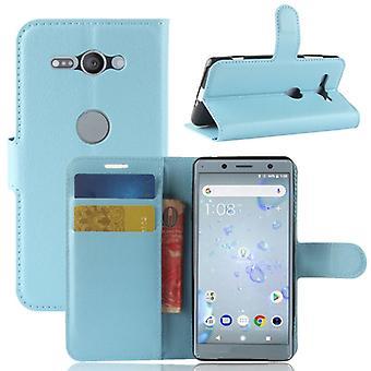 Tasche Wallet Premium Blau für Sony Xperia XZ2 Compact / Mini Schutz Hülle Case Cover Etui Neu