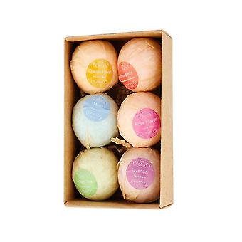 Moisturizing fizzy bath bombs multi-color