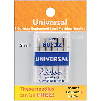 Klasse Universal Machine Needles-Size 12/80 5/Pkg