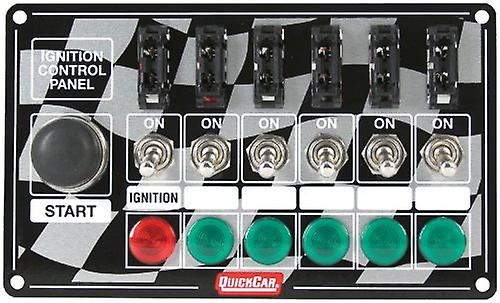 QuickCar Racing Products 50-164 7& 034; Wide x 4& 034; High Ignition Panel with Starter Button and Indicator Lights