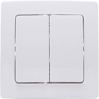 Kopp Free Control 4-channel Wireless wall-mounted switch PARIS 2/4 Arctic white