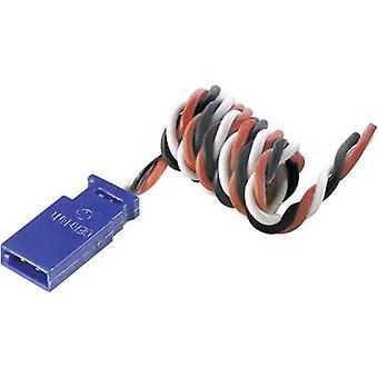 Servo Cable extensión [1 enchufe de x Futaba - 1 zócalo de x Futaba] 500 mm 0,35 mm² silicio, Modelcraft trenzado
