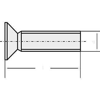 TOOLCRAFT 889792 Underskrudde skruer M4 10 mm Torx DIN 965 rustfritt stål A2 1 eller flere PCer