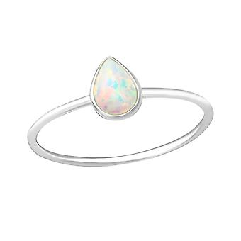 Pear - 925 Sterling Silver Jewelled Rings - W36191x