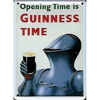 Guinness Knight In Armour Mini teken / Metal briefkaart