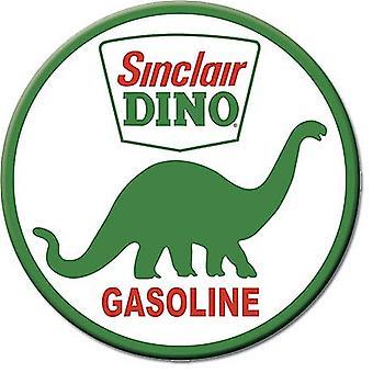 Sinclair Dino Gasoline runde køleskab Magnet 75Mm i Diameter