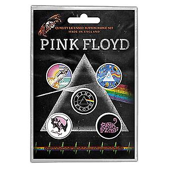 Pink Floyd 5 Round Pin insignias en paquete