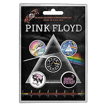 Pink Floyd 5 redondo pino distintivos no Pack