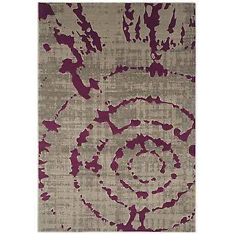 Woven Rug short-pile carpet living room Pacific abstract grey purple 70 x 275 cm
