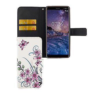 Handyhülle Tasche für Handy Nokia 7 Plus Lotusblume