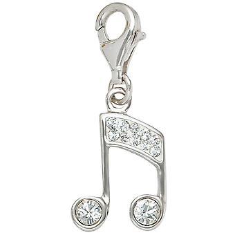 925 sterling silver argento rodiato con cristalli fascino un gancio