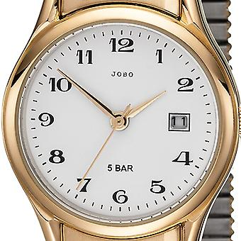 JOBO ladies wrist watch quartz analog stainless steel gold plated cable date