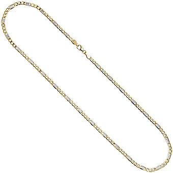333 bridge curb chain Yellow Gold 3.7 mm 45 cm gold chain necklace gold necklace