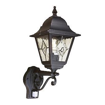 Elstead belysning Norfolk PIR udendørs IP43 ned væg lanterne i sort