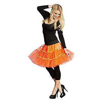 Petticoat short neon orange ladies skirt costume Carnival
