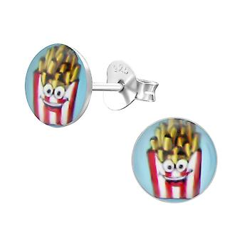 French Fries - 925 Sterling Silver Colourful Ear Studs