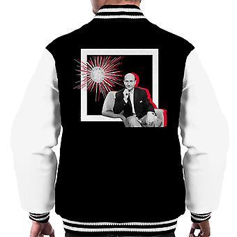 TV Times Donald Pleaseance Retro Frame Men's Varsity Jacket