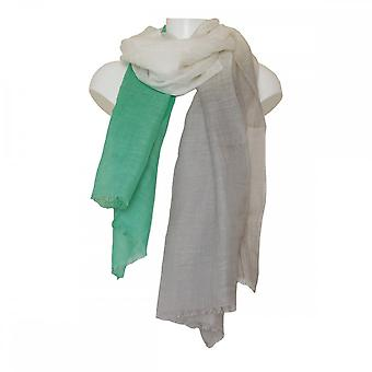 Crea Concept Women's Linen Scarf With Fringe Edge