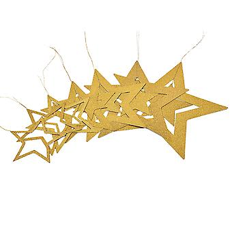 Christmas decoration-golden stars of various sizes
