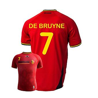 2014-15 Belgium World Cup Home Shirt (De Bruyne 7) - Kids
