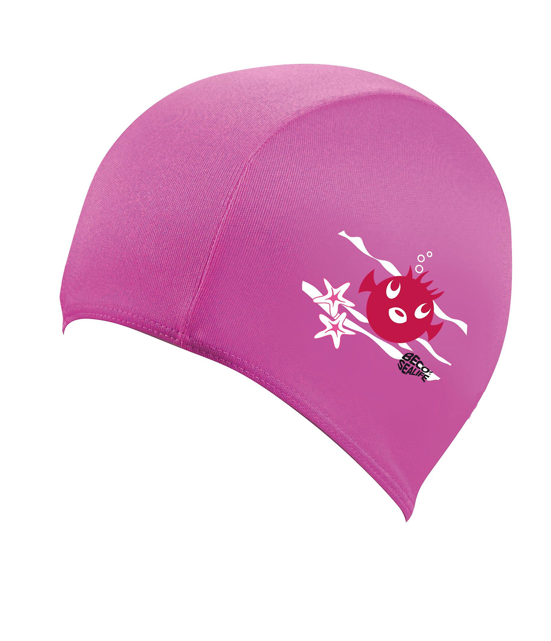BECO Sealife Junior Polyester Swimming Cap - Pink
