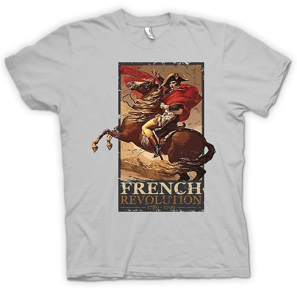 Mens t-skjorte - franske revolusjonen - Napoleon inspirert