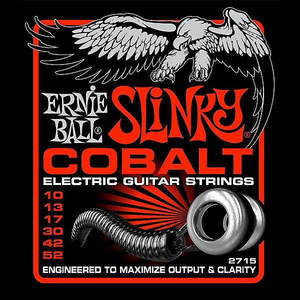 Ernie Ball Cobalt Slinky Strings String Gauge-Medium-Heavy 10-52