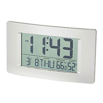 TechBrands Multi-Function LCD Wall Clock