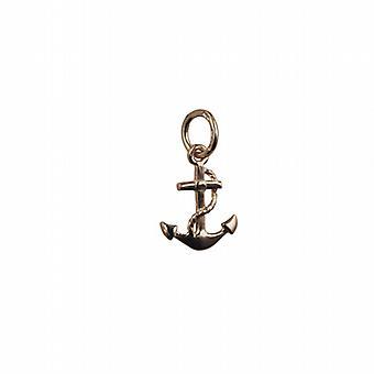 9ct Gold 11x10mm Anker Symbol der Hoffnung Anhänger oder Charm