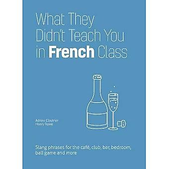 What They Didn't Teach You� in French Class: Slang Phrases for the Cafe, Club, Bar, Bedroom, Ball Game and More