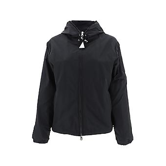 Moncler Black Polyester Outerwear Jacket
