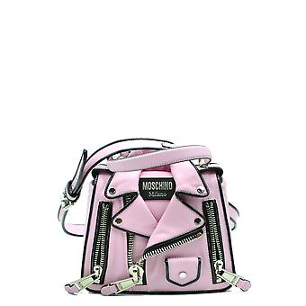 Moschino Pink Leather Shoulder Bag