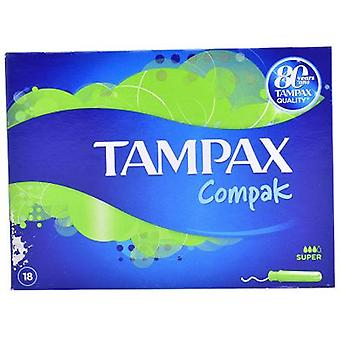 Tampax Compak Tampón Super 18 Unidades (Hygiene and health , Intimate hygiene , Tampons)