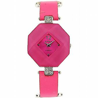Zaza London Octagonal Pink Dial Ladies Watch LLB870