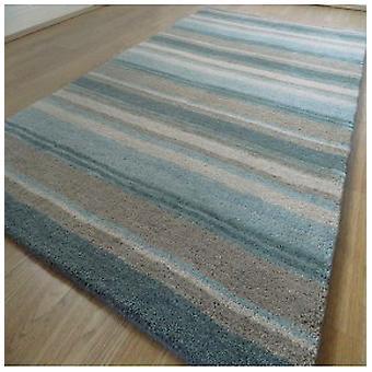 Tapetes - artesanais Multi Stripe - Aqua