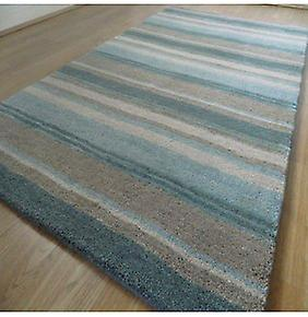 Rugs - Handloom Multi Stripe - Aqua