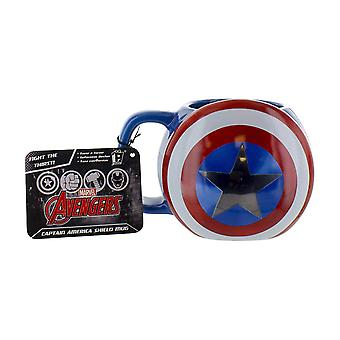 Marvel Avengers Captain America Shield Mug Ceramic Multi-Colour