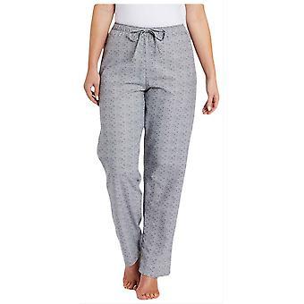 British Boxers Earl Rose Print Pyjama Trousers - Grey