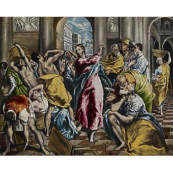 Christ Driving the Traders from the Temple, El Greco, 50x40cm