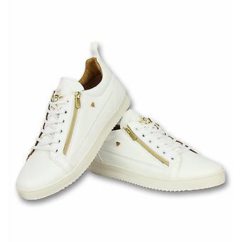Heren Schoenen - Heren Sneaker Bee White Gold - CMS97 - Wit