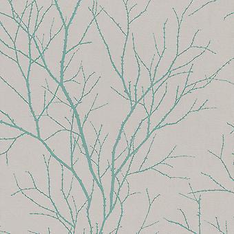 Rasch Twig Tree Branch Pattern Fond d'écran moderne non tissé texturé 455939