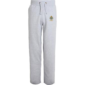 Devonshire Regiment Veteran - Licensed British Army Embroidered Open Hem Sweatpants / Jogging Bottoms