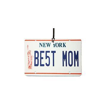 New York - meilleure maman plaque d'immatriculation voiture assainisseur d'Air