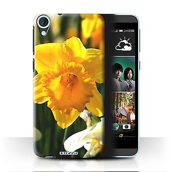 STUFF4 Case/Cover for HTC Desire 820s Dual/Daffodil/Floral Garden Flowers