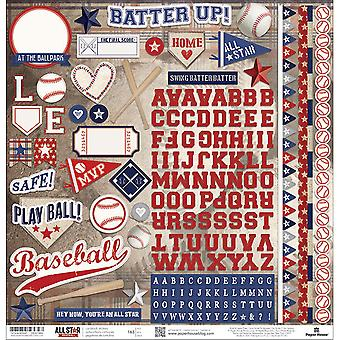 Honkbal Cardstock Stickers 12
