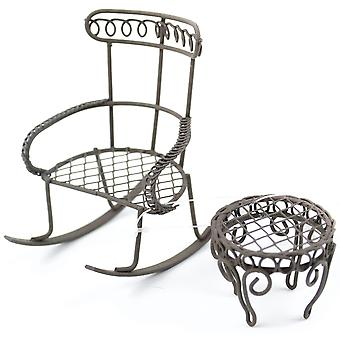 Mini jardin Rocking Chair & Table ronde 2 Pkg chaise 2,25
