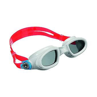 Aqua Sphere Mako Schwimmen Goggle - Dark Lens - White/Light Blue/Red Frame